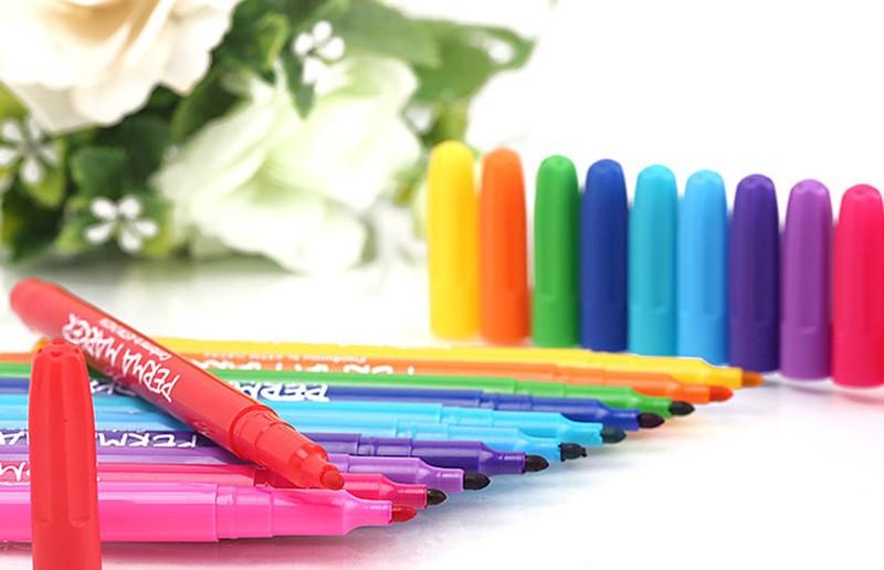 Hộp 12 Cây Bút Lông Colormate Perma Markers - MS-12PER