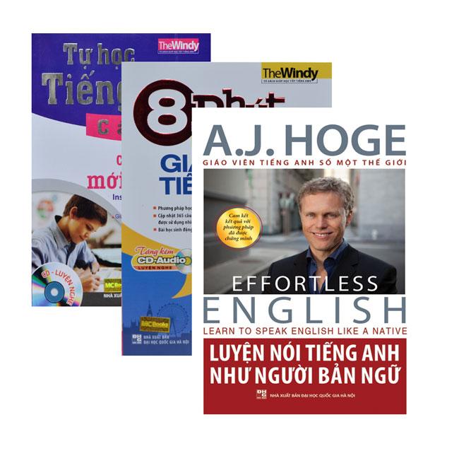 Combo Bộ Tài Liệu Tiếng Anh Dành Cho Người Mới Bắt Đầu (Tặng Kèm Sổ Tay Người Học Tiếng Anh)