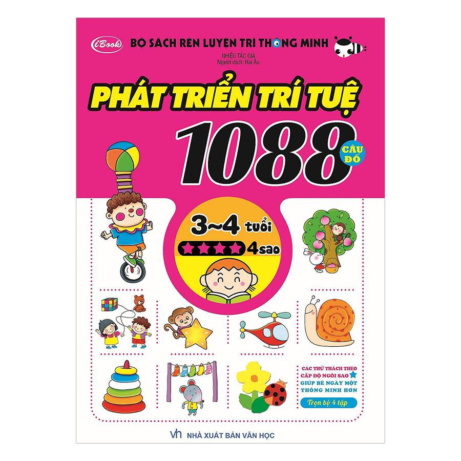 Combo Bộ Sách Rèn Luyện Trí Thông Minh - Phát Triển Trí Tuệ 1088 Câu Đố - Dành Cho Trẻ Từ 3 Đến 4 Tuổi (Trọn Bộ 4 Cuốn)