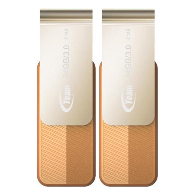 Bộ 2 USB 3.0 64GB Team Group INC C143 - Hàng Chính Hãng