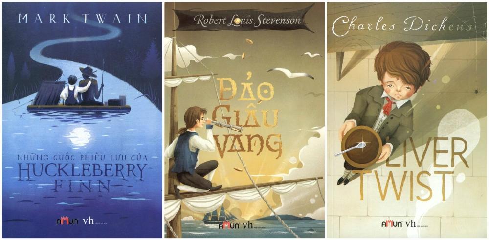 Combo Những Cuộc Phiêu Lưu Của Huckleberry Finn- Đảo Giấu Vàng - Oliver Twist  (Đinh Tị Books)