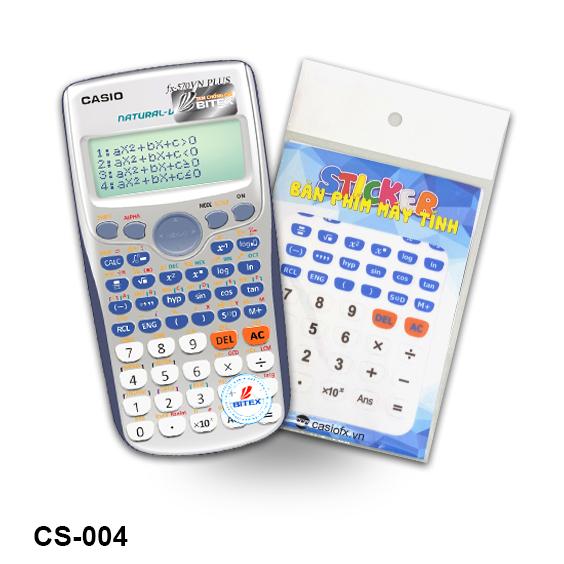 Sticker Bàn Phím Máy Tính Casiofx CS-004 (Trắng - Xanh Dương)