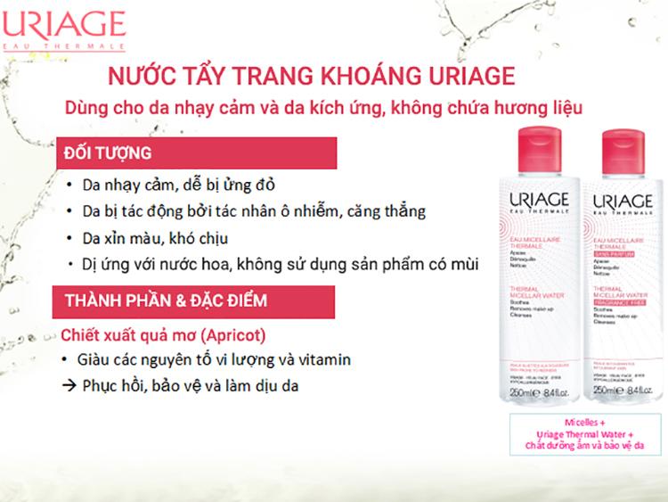 Nước Tẩy Trang Dành Cho Da Nhạy Cảm Uriage Eau Micellaire Thermale PI F (250ml) 1