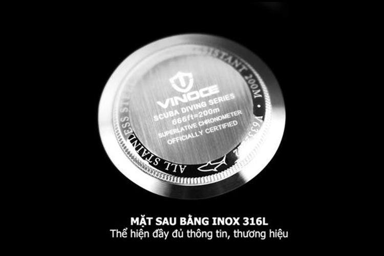 Đồng Hồ Nam Dây Thép Không Gỉ VINOCE CH412 D1 - 1A1V (40mm) - Đen
