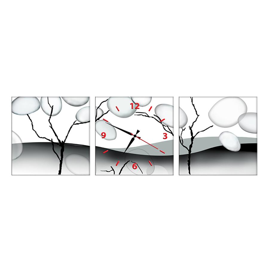 Tranh Đồng Hồ Treo Tường 3 Tấm Thế Giới Tranh Đẹp CX0082-DH