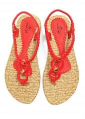 Giày Sandal - Kẹp Ngón - 91247 - Đỏ