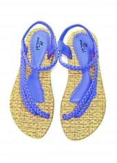 Giày Sandal - Quai Chéo - 91274 - Xanh Dương