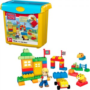Hộp Đồ Chơi Lắp Ráp Mini Bloks - Mega Bloks (100 Chi Tiết)