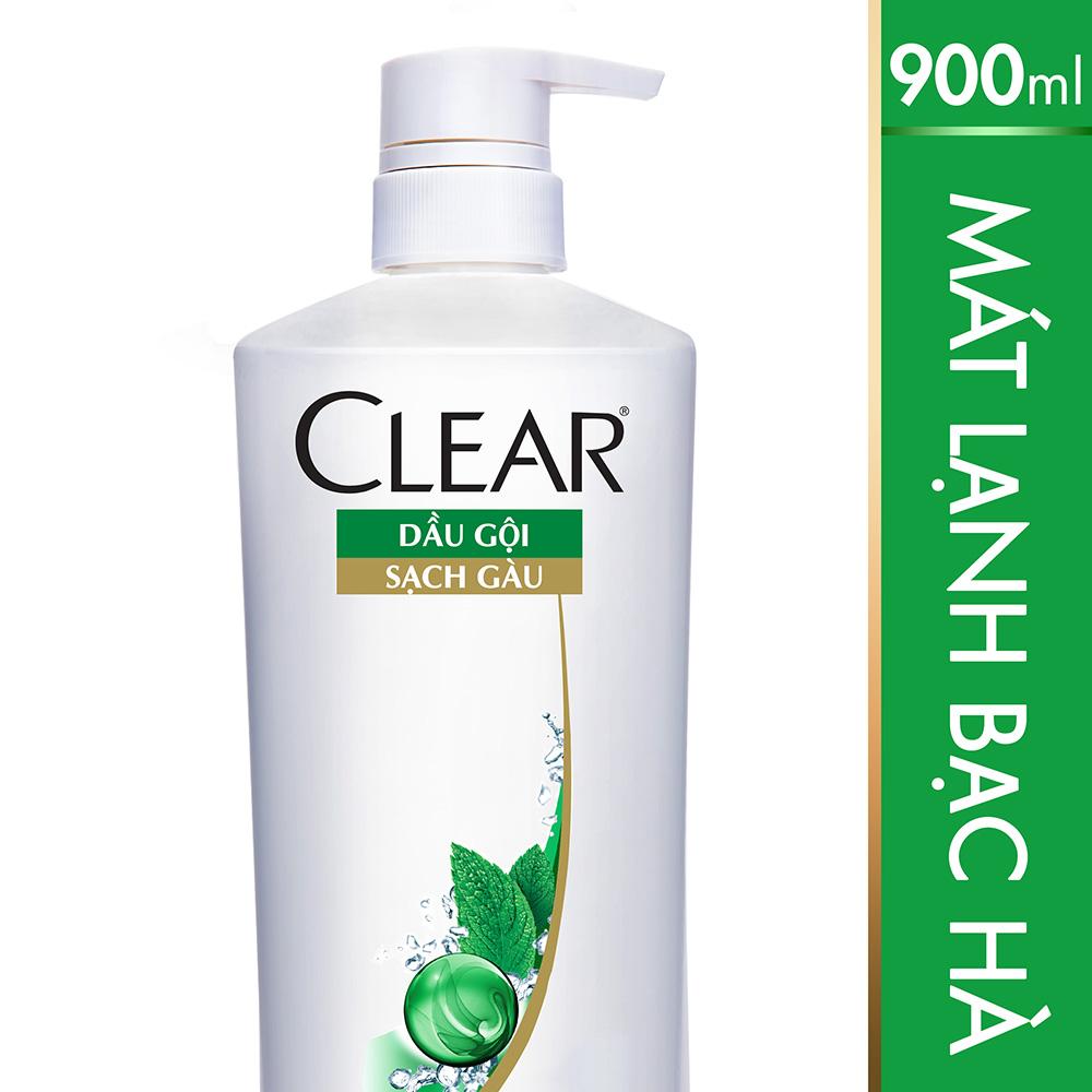 Dầu Gội Clear Mát Lạnh Bạc Hà 900g - 21123404