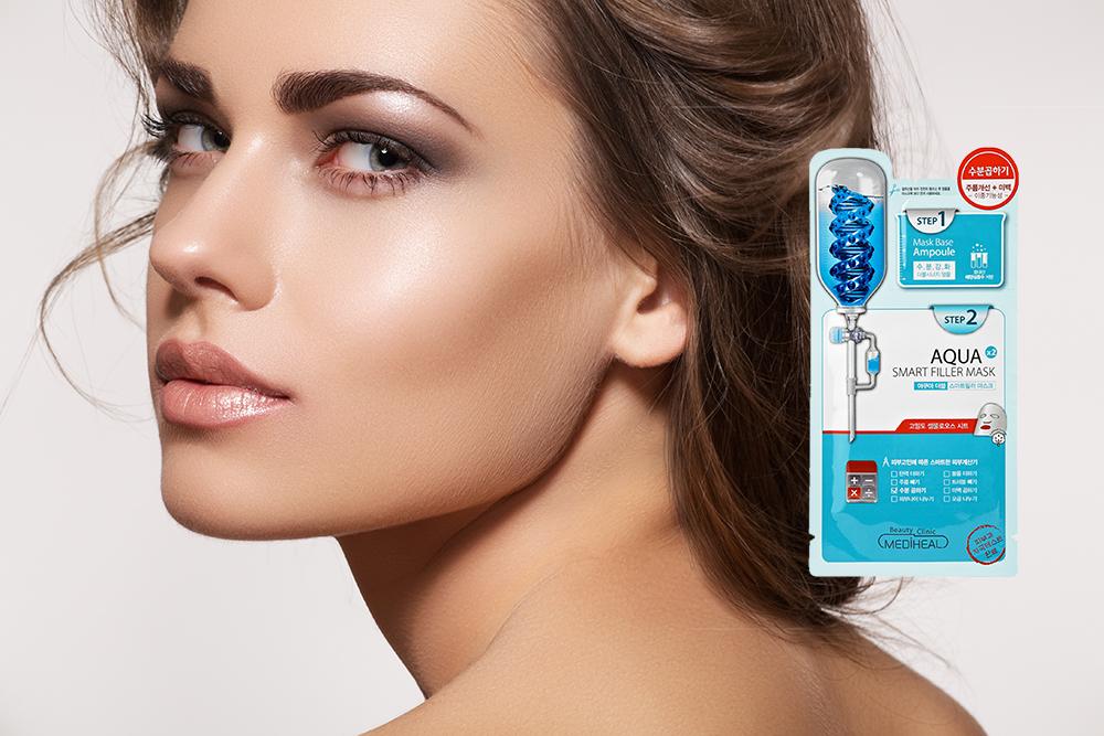 Kết quả hình ảnh cho Mặt nạ 2 bước Mediheal Aqua Double Smart Filler Mask