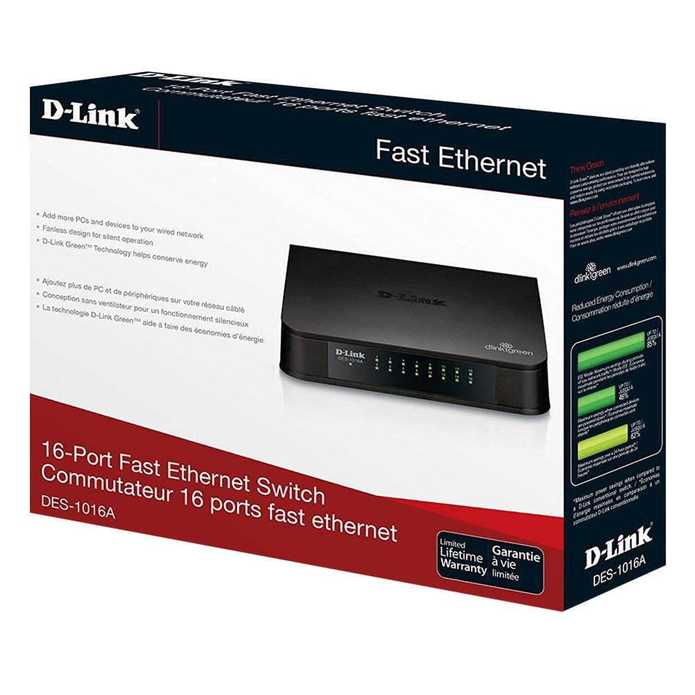 D-Link DES-1016A - Switch 16 Cổng 10/10M - Hàng Chính Hãng
