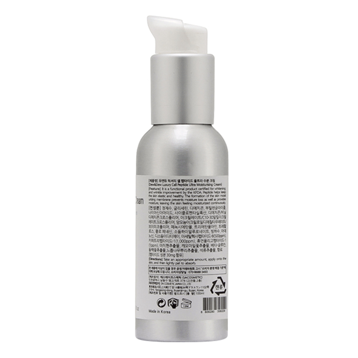 Kem Dưỡng Ẩm Sáng Trắng Da Chiết Xuất Từ Tế Bào Peptide Dew&Dew Luxury Cell Peptide Ultra Moisturising Cream - DEW&DEW12 - 100ml