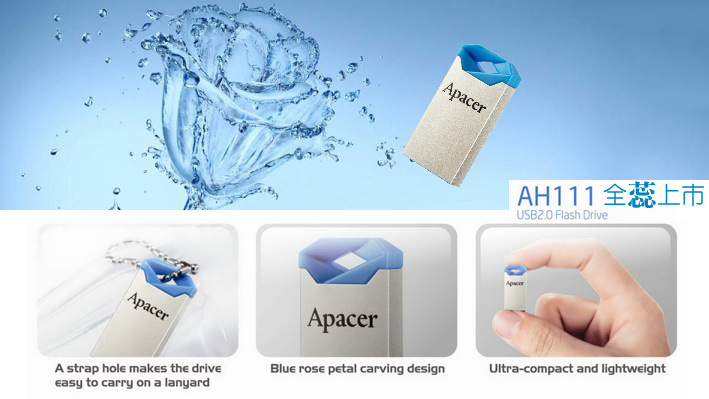 USB Apacer AH111 8GB - USB 2.0