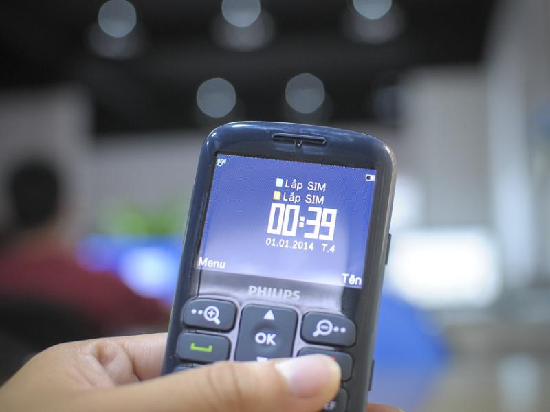 Philips X2566 hỗ trợ 2 sim 2 sóng