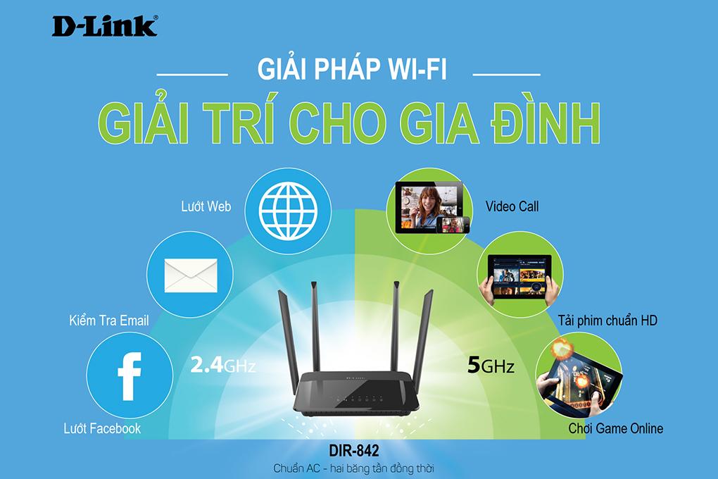 D-Link DIR-842 - Bộ Phát Sóng Wifi Băng Tần Kép
