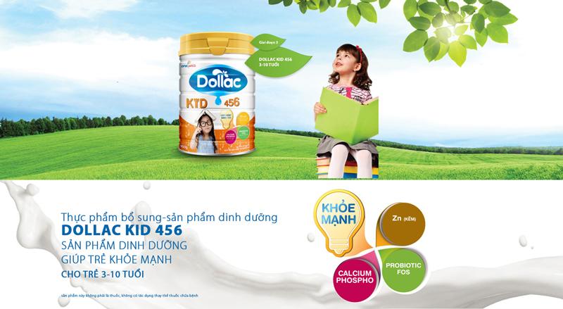 Sữa Công Thức Dollac Kid 456
