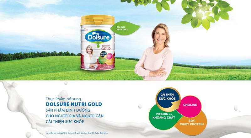 Sữa Dolsure Nutri Gold (Dành Cho Người Già Và Người Bệnh Cần Hồi Phục Sức Khỏe)