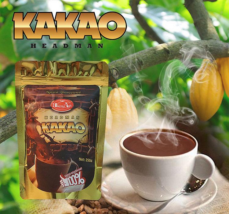 Bột Cacao Headman Nguyên Chất Túi Zipper (250g)