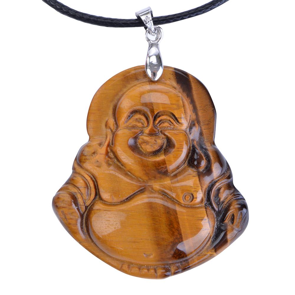 Trang Sức Phong Thủy - Mặt Phật Di Lặc Mắt Hổ