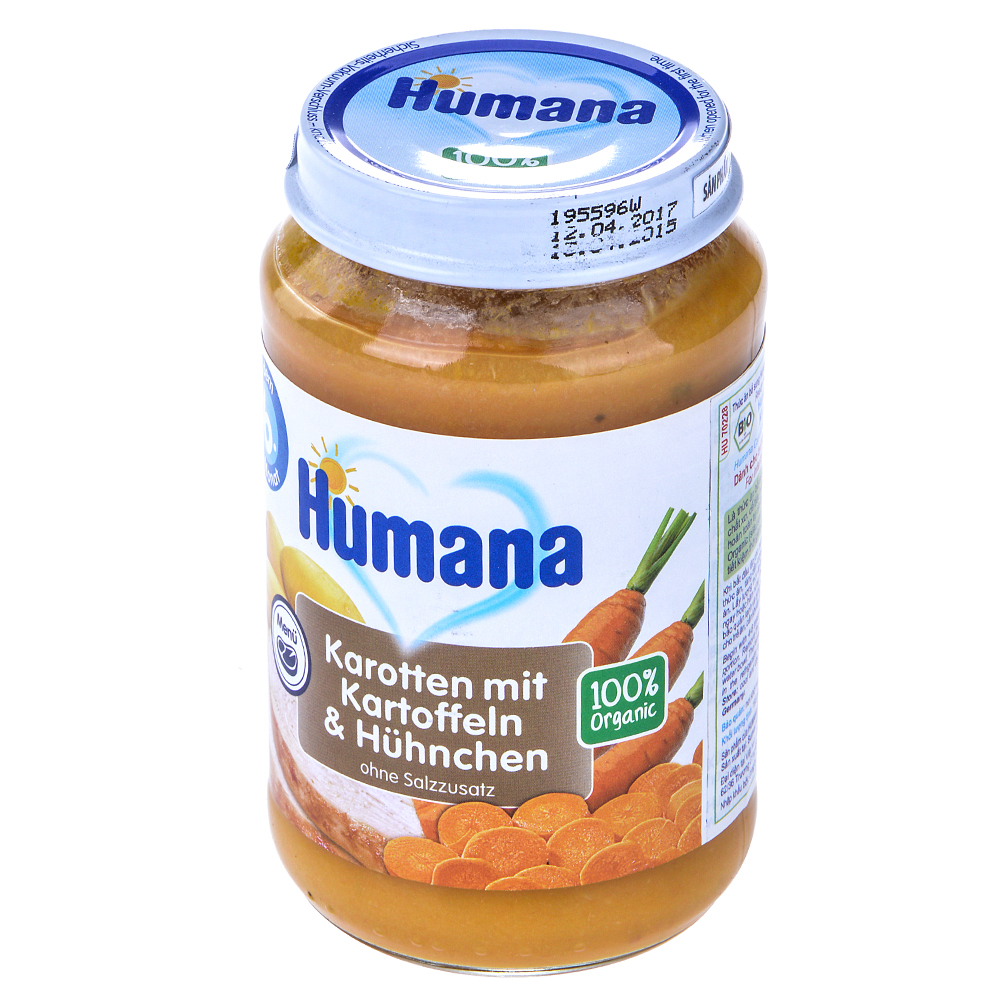 Thức Ăn Dinh Dưỡng Humana (Thịt Gà - Cà Rốt - Khoai Tây) 70228 - 190g