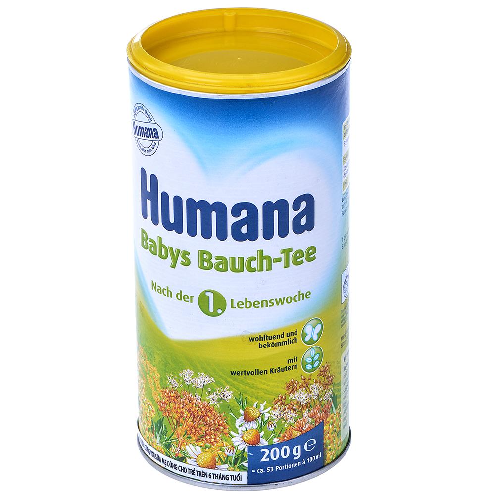 Trà Dinh Dưỡng Hòa Tan Thảo Dược Humana 200g (Cho Trẻ 1 Tuần Tuổi)