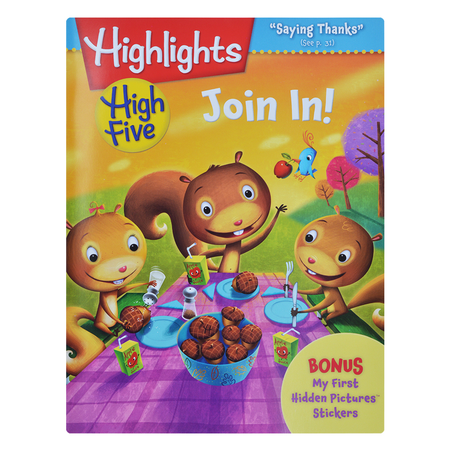 Highlights High Five International Edition - Join In (Bonus My First Hidden Pictures Stickers)