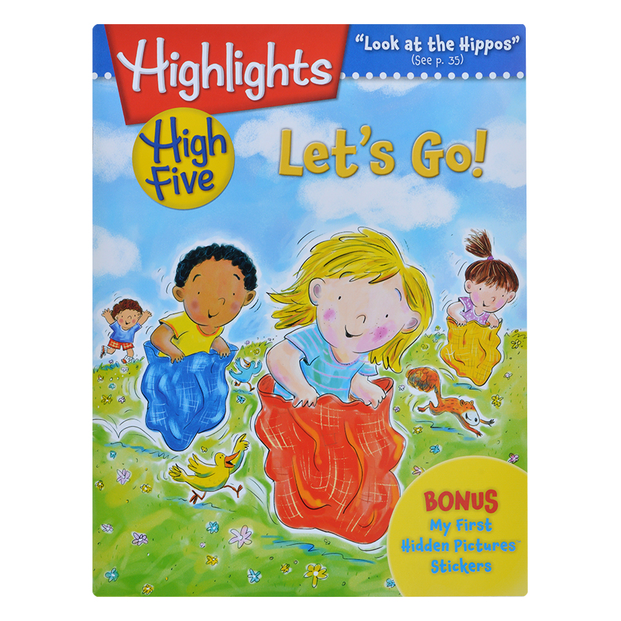 Highlights High Five International Edition – Lets Go (Bonus My First Hidden Pictures Stickers)