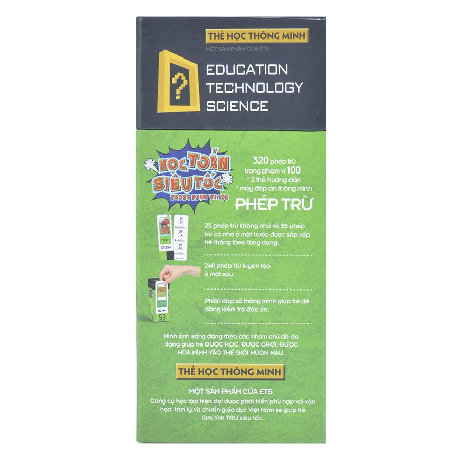Flash Card - Thẻ Học Toán Siêu Tốc - Phép Trừ