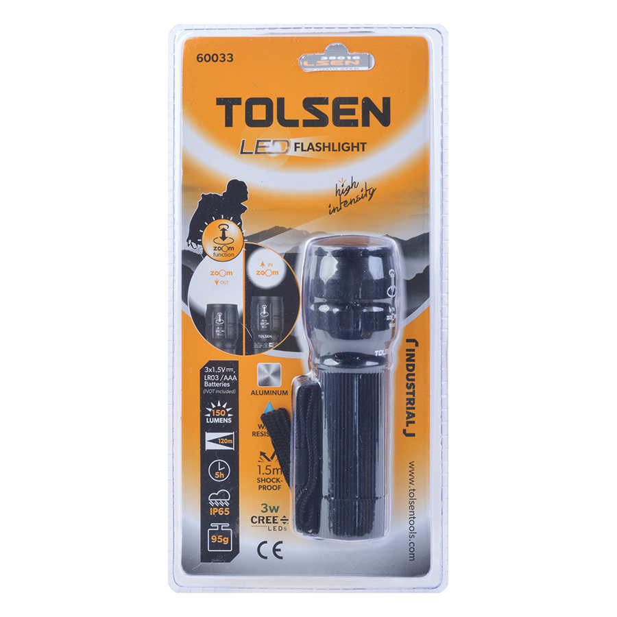 Đèn Pin Phóng To Tolsen 60033