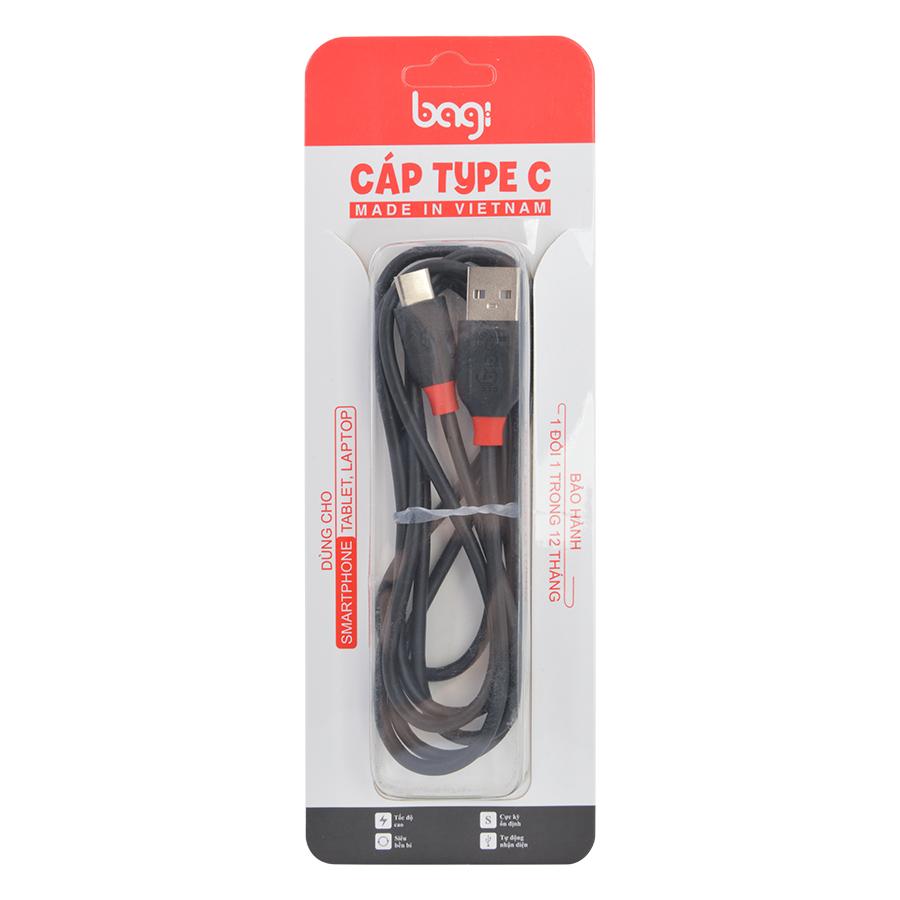 Cáp Sạc USB Type-C Bagi CA150 1.5m - Hàng Chính Hãng