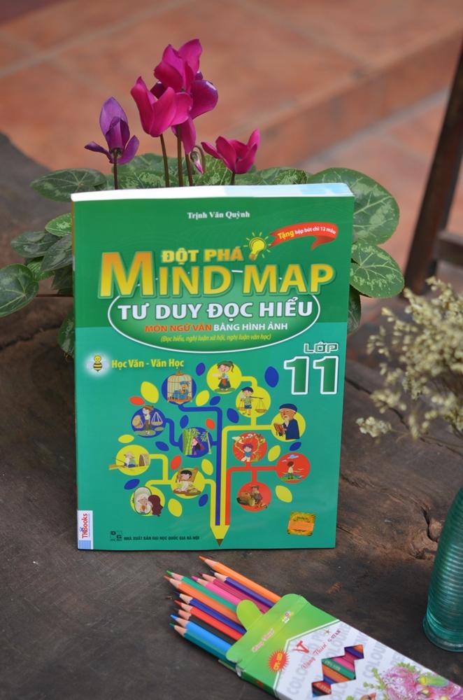 Đột Phá Mindmap - Tư Duy Đọc Hiểu Môn Ngữ Văn Bằng Hình Ảnh Lớp 11 (Tặng kèm Hộp chì 12 màu)