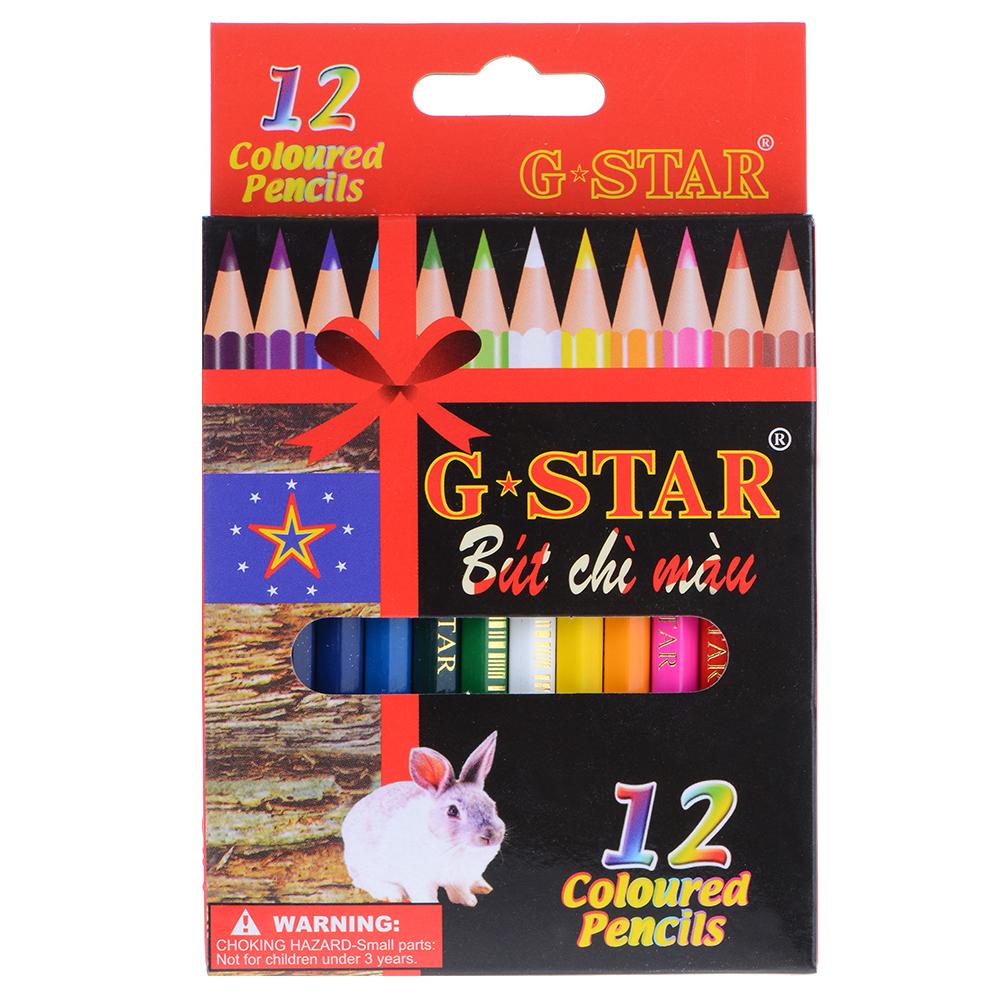 Bút Chì 12 Màu G-Star Ngắn