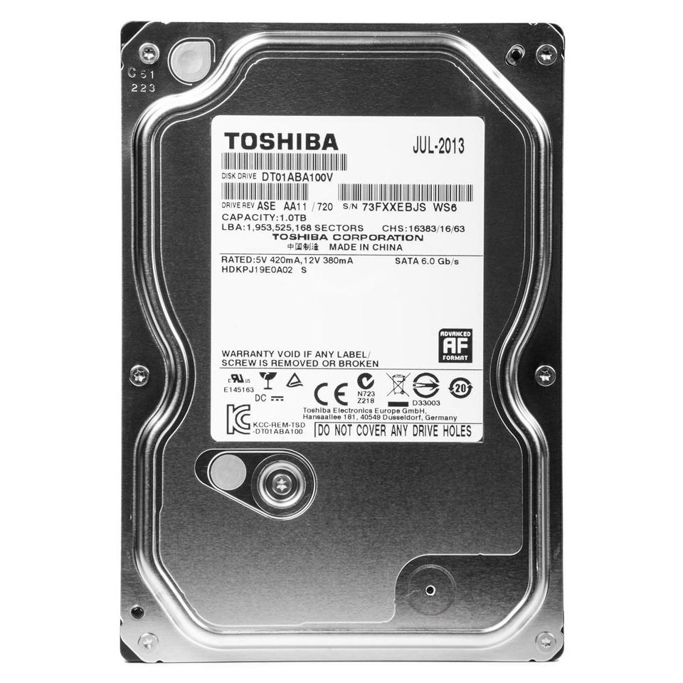 Ổ Cứng HDD Camera Toshiba 1TB/32MB/5700rpm/3.5 - DT01ABA100V - Hàng chính hãng