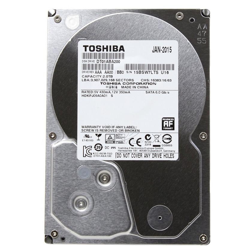 """Ổ Cứng Trong PC Toshiba AV 2TB - 3.5""""/SATA3/5700rpm/32MB"""