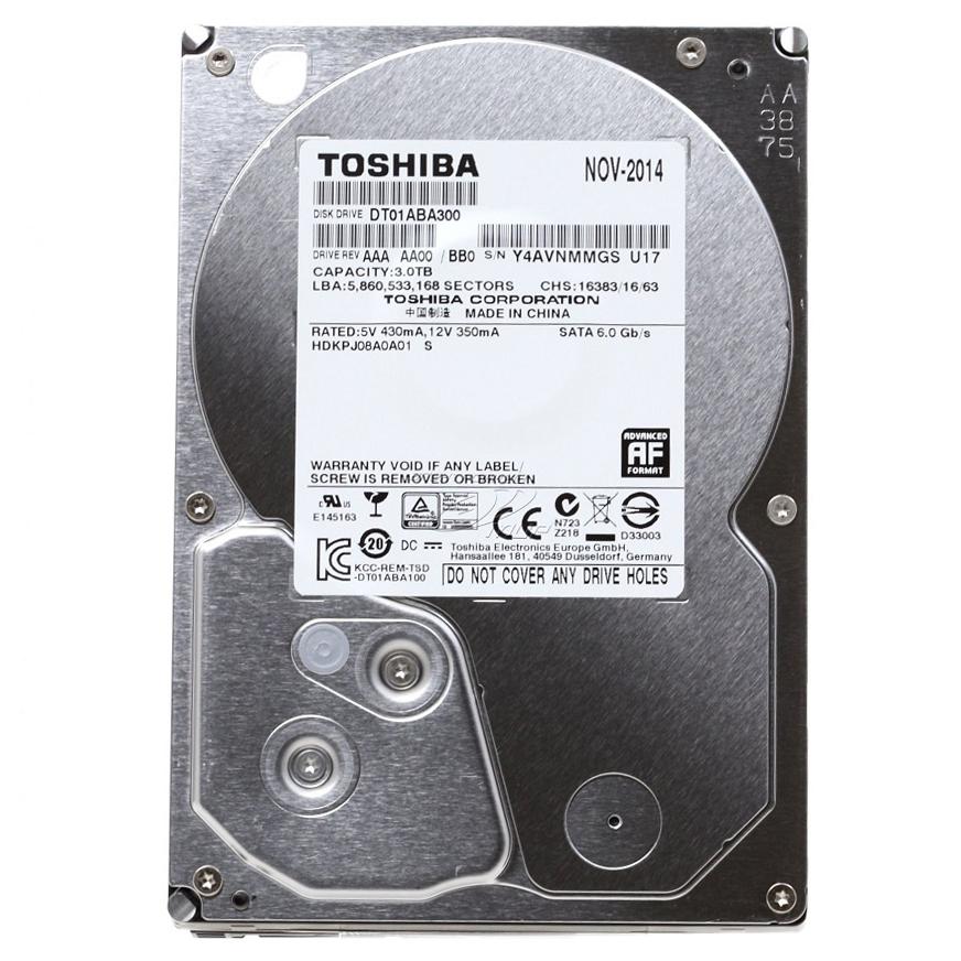 """Ổ Cứng Trong PC Toshiba AV 3TB - 3.5""""/SATA3/5700rpm/32MB"""