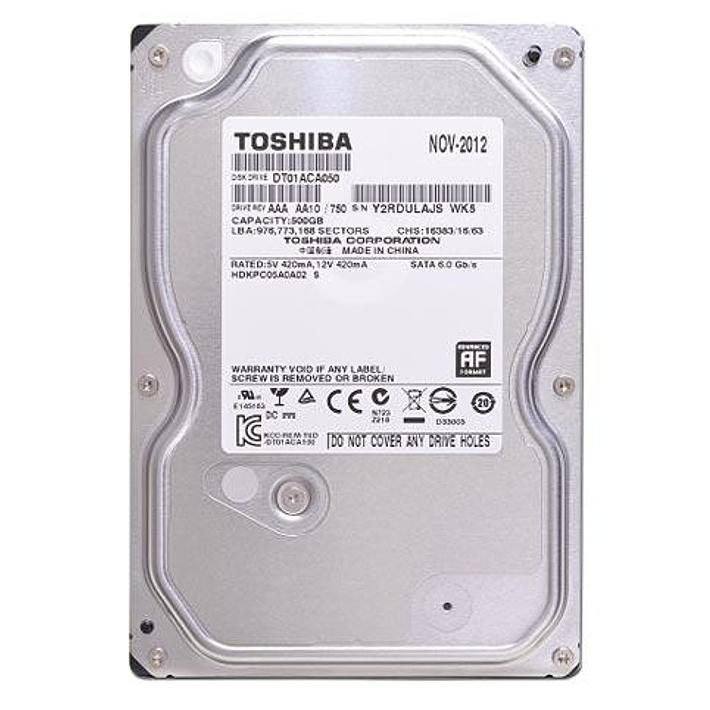"""Ổ Cứng Trong PC Toshiba 500GB -3.5""""/SATA3/7200rpm/32MB"""