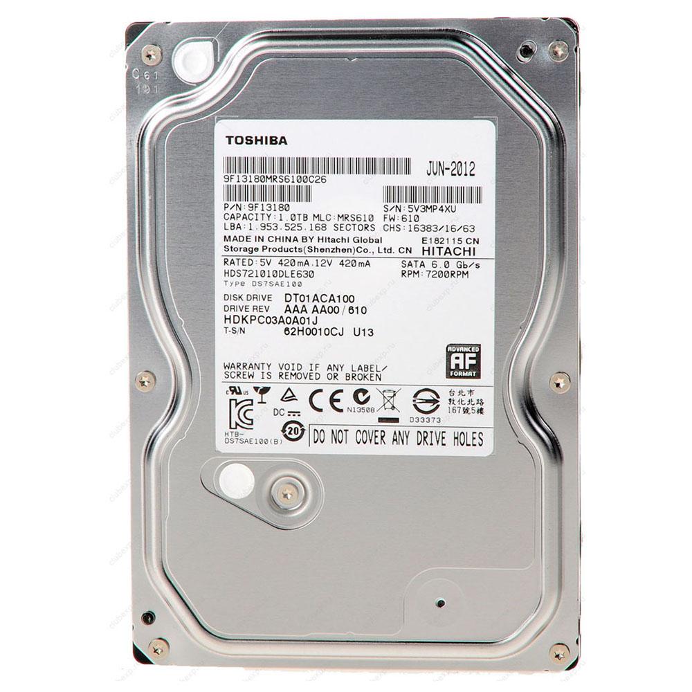 """Ổ Cứng Trong PC Toshiba 1TB - 3.5""""/SATA3/7200rpm/32MB"""
