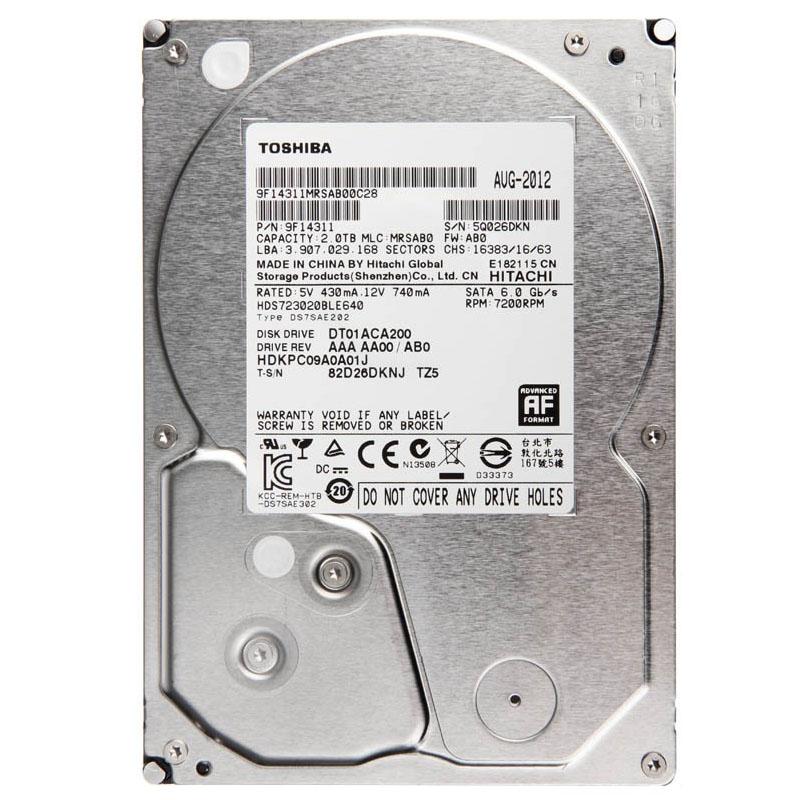 """Ổ Cứng Trong PC Toshiba 2TB - 3.5""""/SATA3/7200rpm/64MB"""