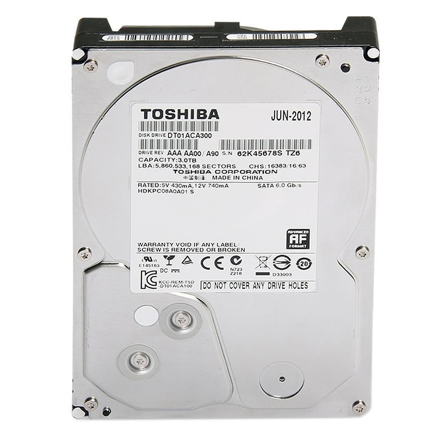 """Ổ Cứng Trong PC Toshiba 3TB - 3.5""""/SATA3/7200rpm/64MB"""