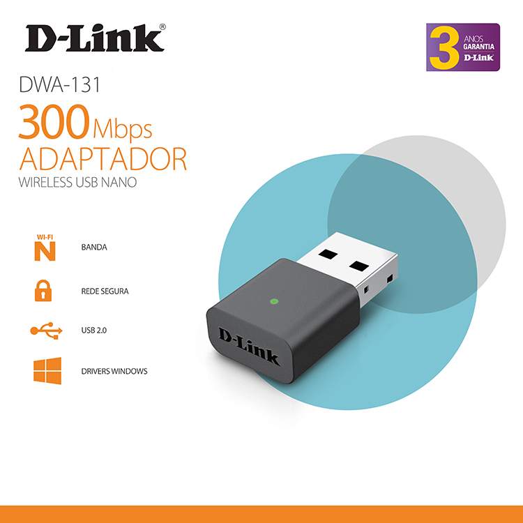 D-Link DWA-131 - Card Mạng Wireless Nano USB