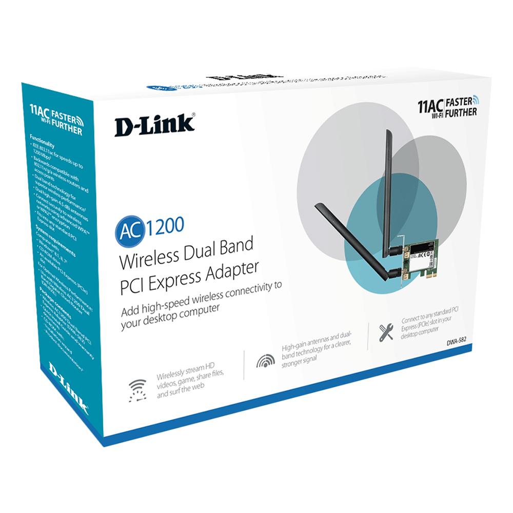 D-Link DWA-582 - Card Mạng Wireless PCI Băng Tầng Kép