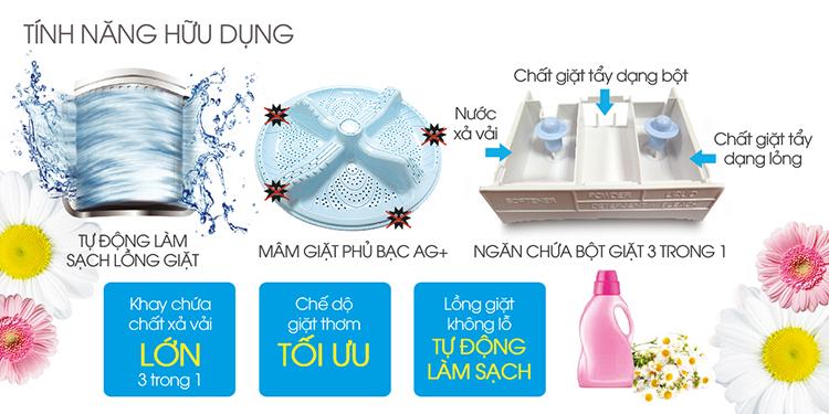 Máy Giặt Cửa Trên Sharp ES-U72GV-G (7.2Kg)
