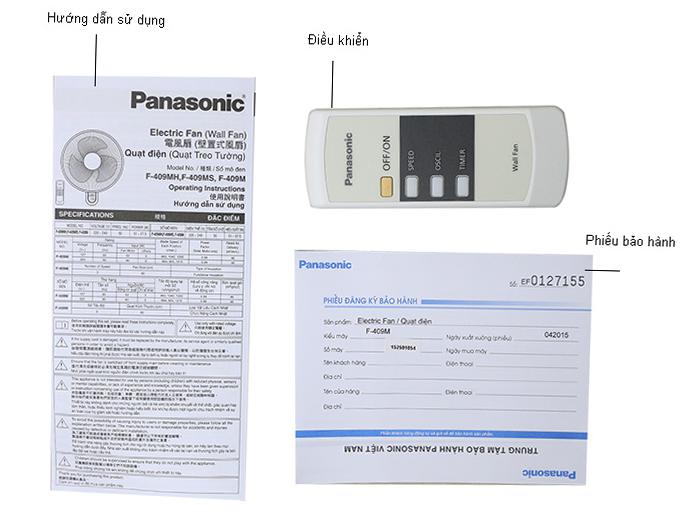 Quạt Treo Tường Có Remote Panasonic F409MB - Xanh Dương