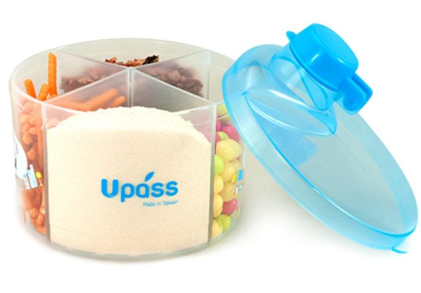Hộp Chia Sữa Tròn 4 Ngăn Không BPA Upass UP8005CX – Xanh Da Trời