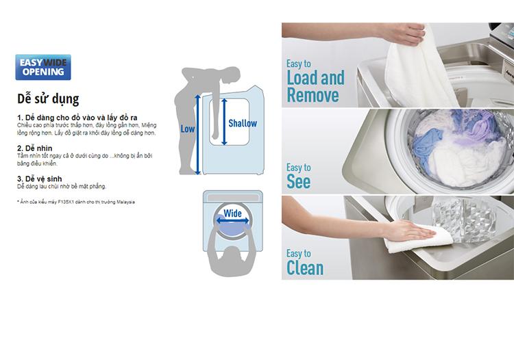 Máy Giặt Cửa Trên Panasonic NA-F90A4HRV (9kg) - Xám Nhạt