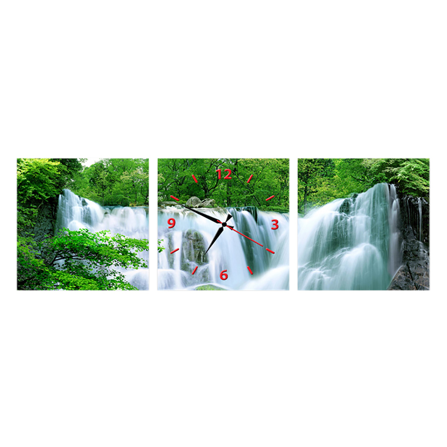 Tranh Đồng Hồ Treo Tường 3 Tấm Thế Giới Tranh Đẹp FJ0076-DH