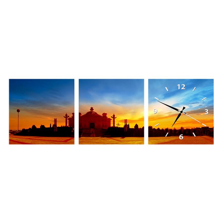 Tranh Đồng Hồ Treo Tường 3 Tấm Thế Giới Tranh Đẹp FJ0082-DH
