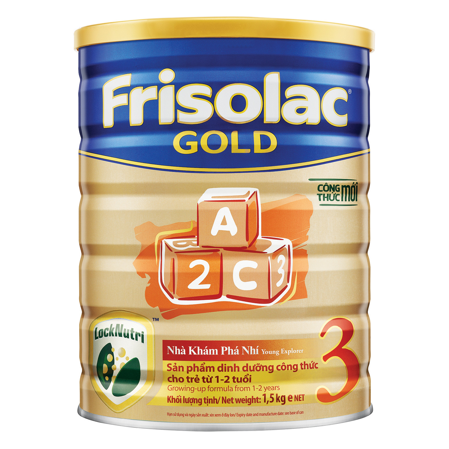 Sữa Bột Frisolac Gold 3 1500g