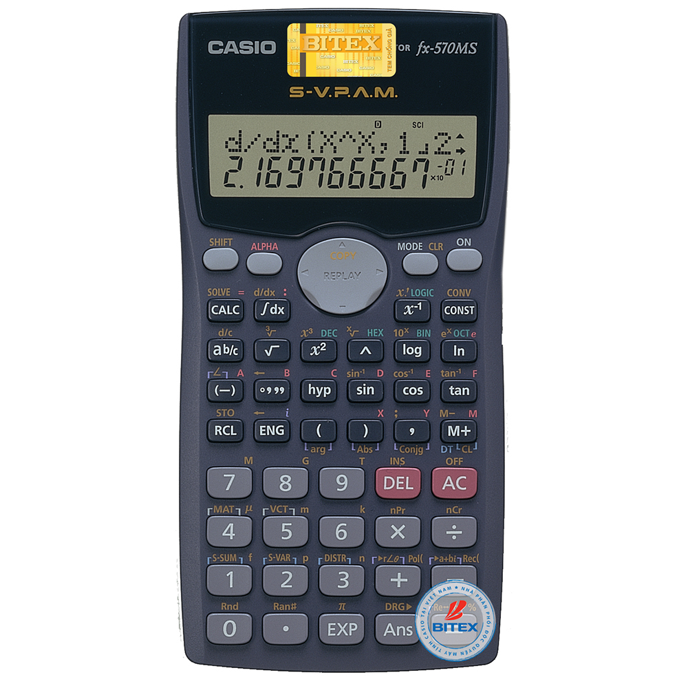 Máy Tính Học Sinh Casio FX 570MS - Hàng Chính Hãng