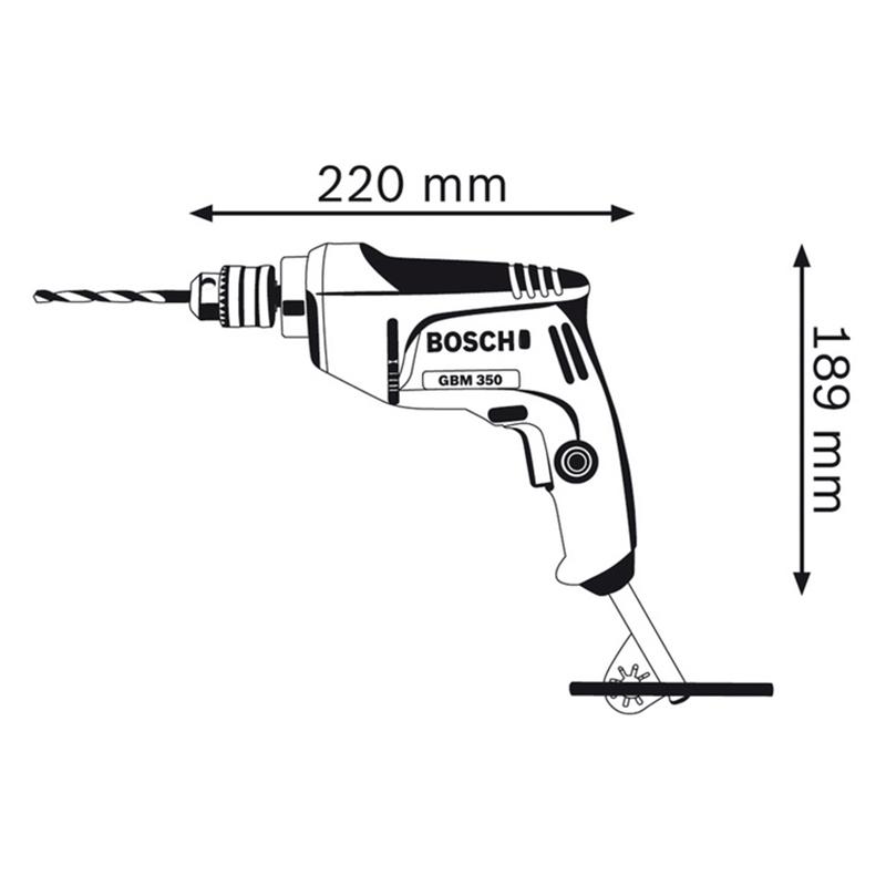 Máy Khoan Sắt Bosch GBM 350 (350W)
